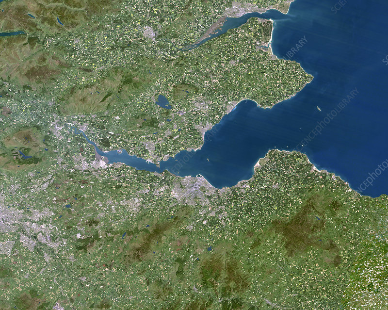 Firth of Forth, UK, satellite image