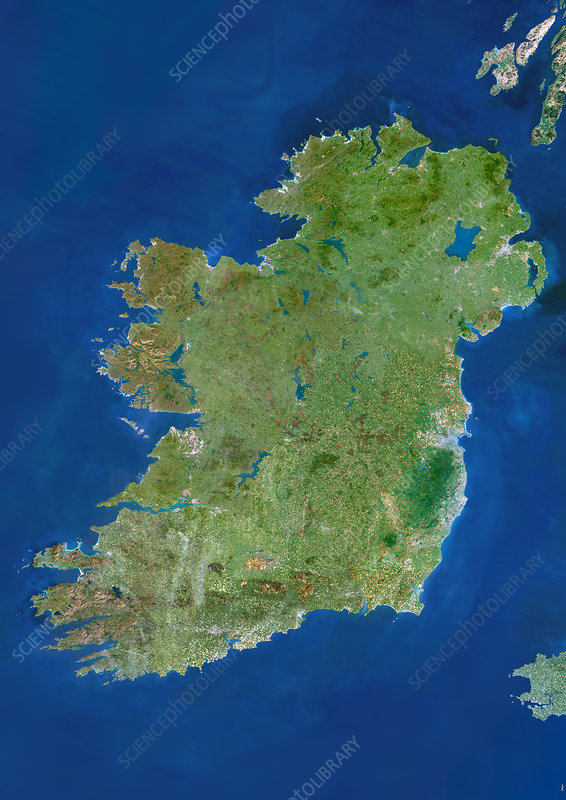 Ireland, satellite image