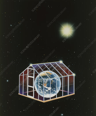 Illustration of the greenhouse effect