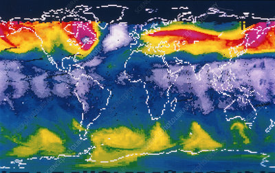 Global ozone distribution