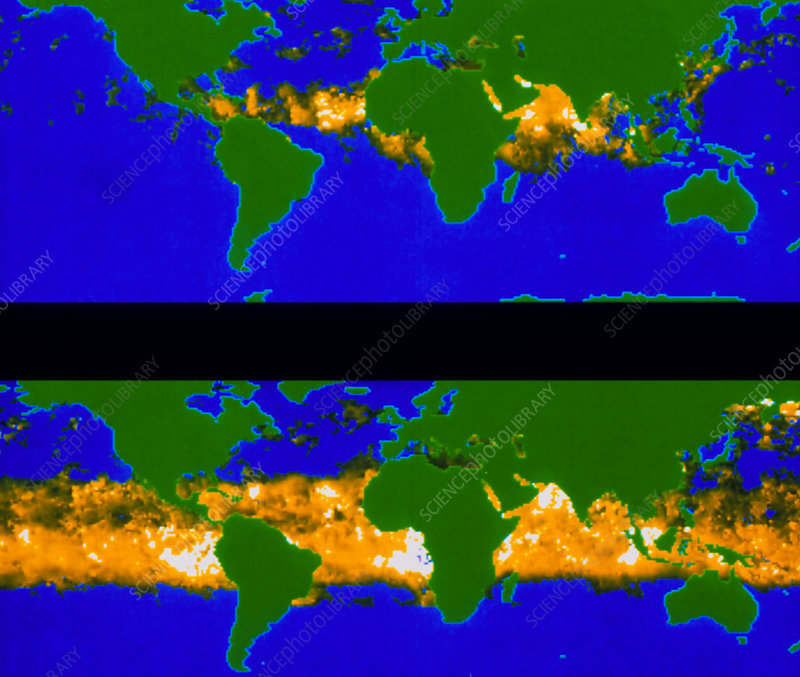 Global aerosol distribution before+after Pinatubo