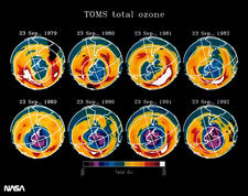 TOMS total ozone maps, 1979-82, 89-92