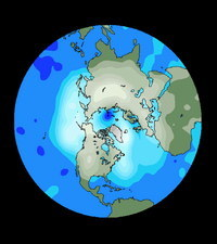 Ozone depletion in Northern Hemisphere 12 March 95