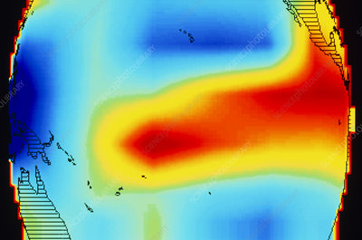 Satellite data of El Nino atmospheric water vapour