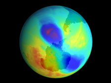 Antarctic ozone hole, September 2002