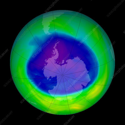Antarctic ozone hole, 2005