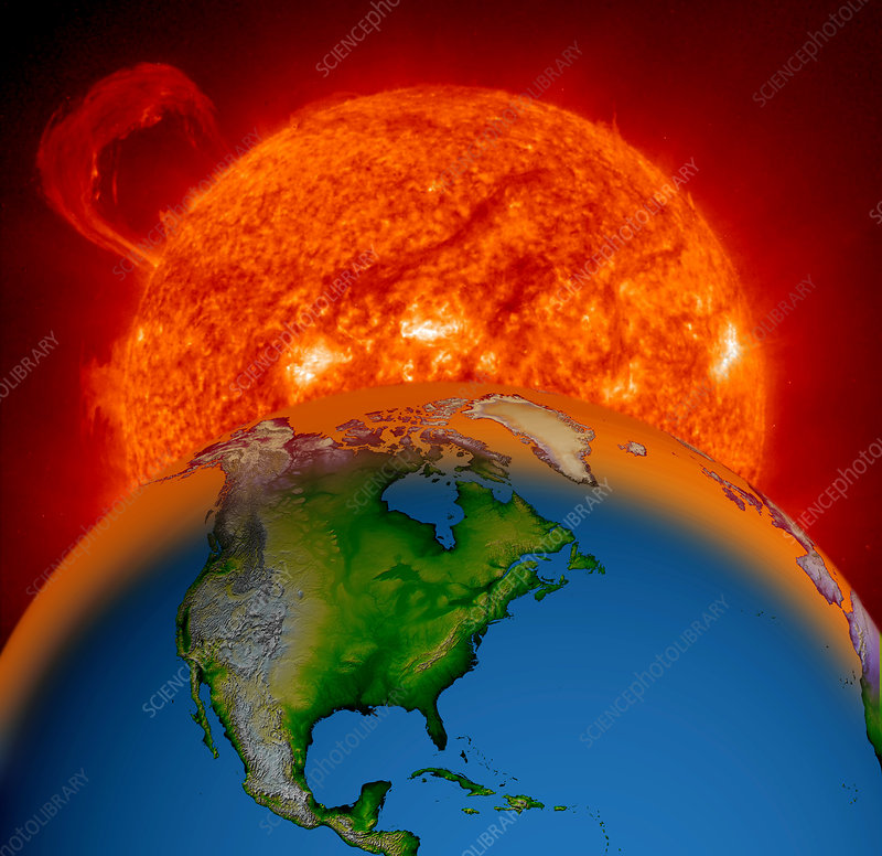 Sun Appearing Over Earth