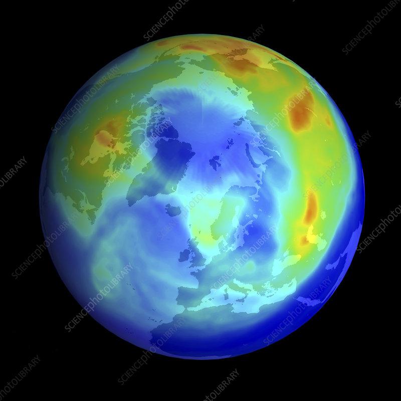 Arctic ozone hole, 2000