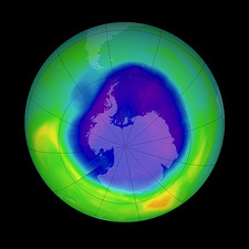 Antarctic ozone hole, 2007
