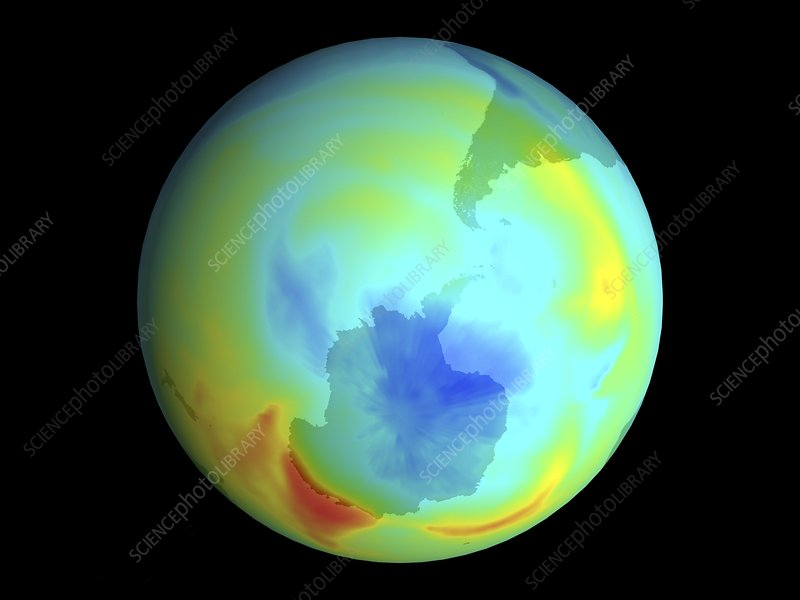 Antarctic ozone hole, September 1979