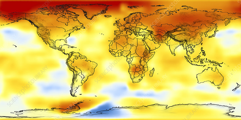 Global temperature anomalies 2002-2006