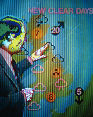 Thermogram of a television weatherman