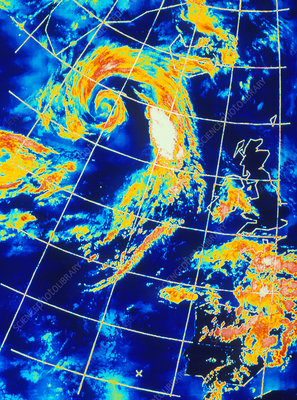 Low pressure system over the North Atlantic