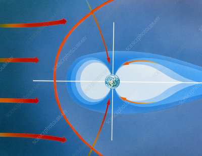 Diagram of Earth's magnetosphere