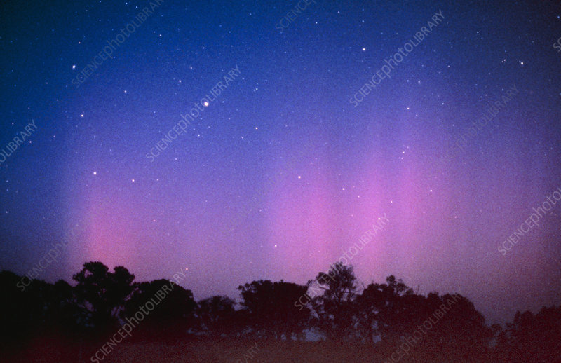 View of the Aurora Australis or southern lights