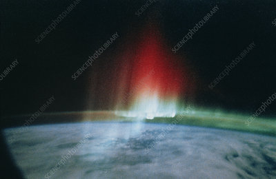 Aurora astralis from Space Shuttle