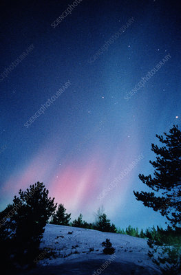 View of a spectacular aurora borealis display