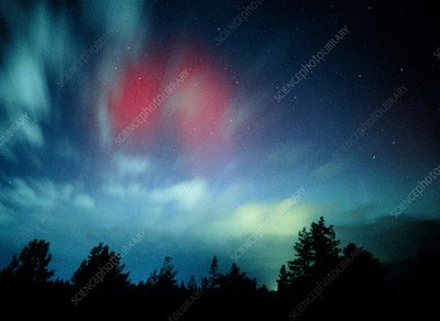View of an arora borealis display
