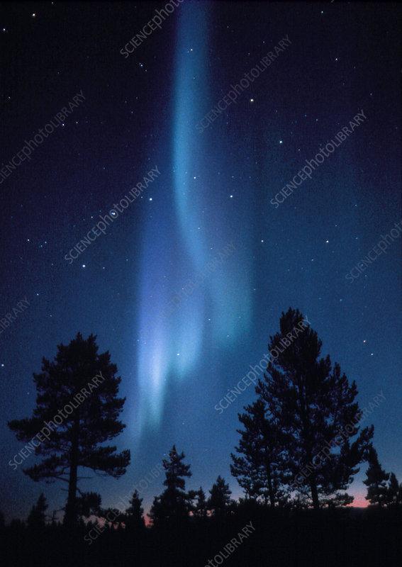 View of an aurora borealis display
