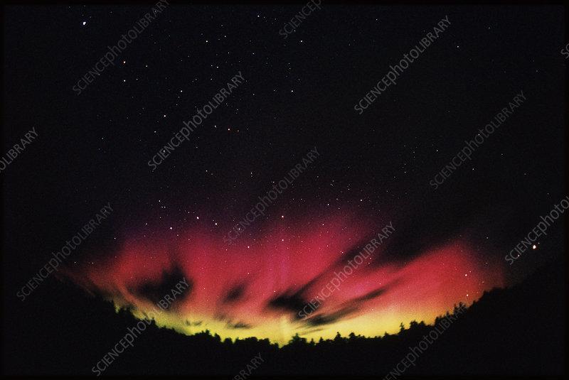 A spectacular, colourful aurora borealis display