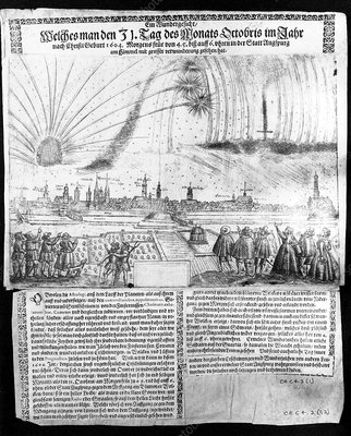 1604 engraving of aurora borealis
