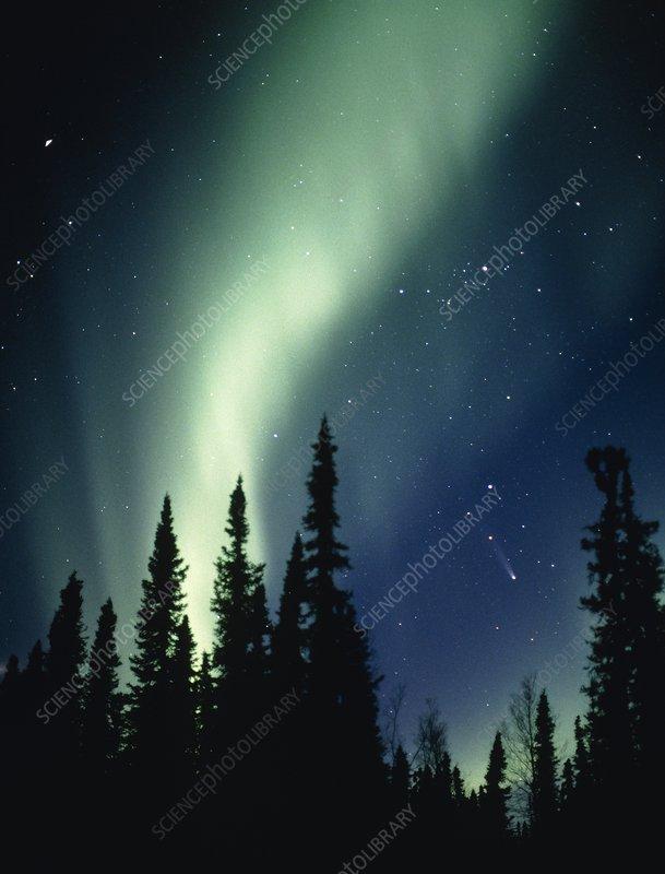 northern lights comet - photo #17