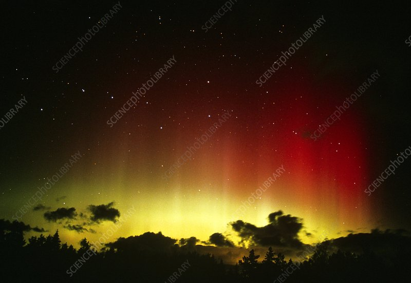 Aurora borealis or northern lights and Ursa Major