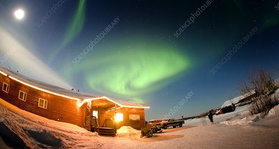 Aurora Borealis on Aurora Borealis In Alaska   Stock Image E115 0397   Science Photo