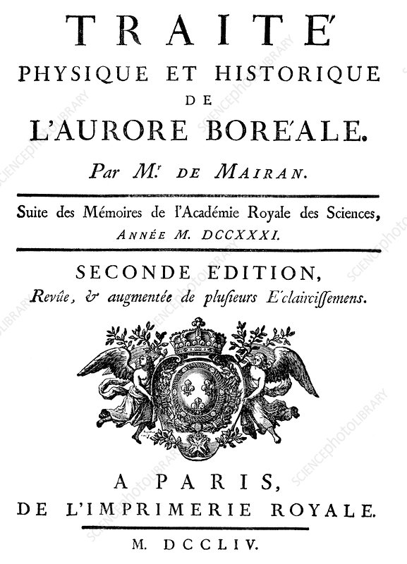 De Mairan's book on aurorae, 1754
