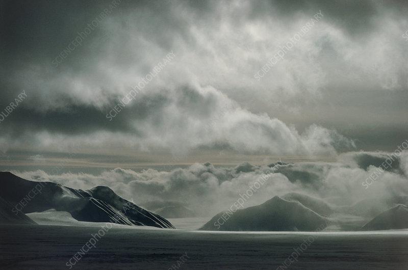 The Morsjnevbreen glacier view, Arctic Ocean