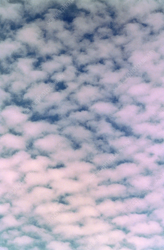 Photograph of cirrocumulus clouds