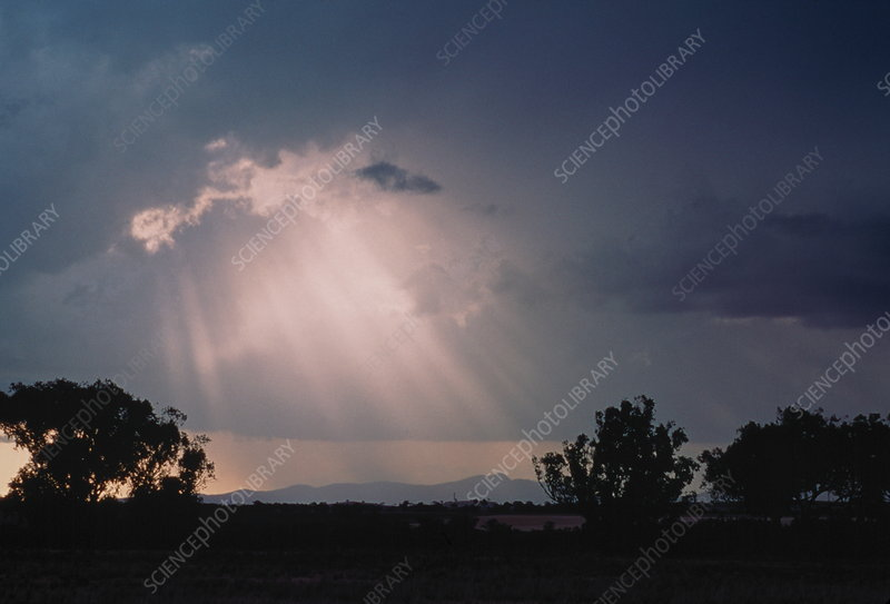 Sun rays from behind cloud