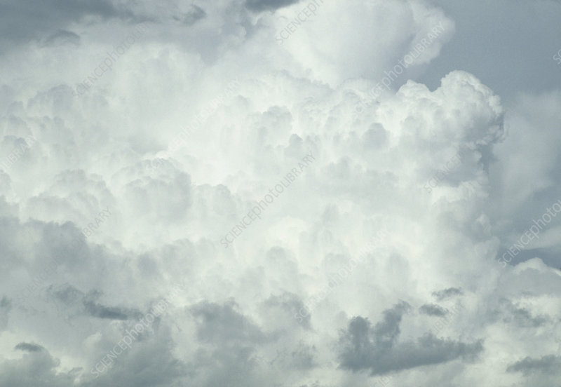 Side of a cumulonimbus storm cloud