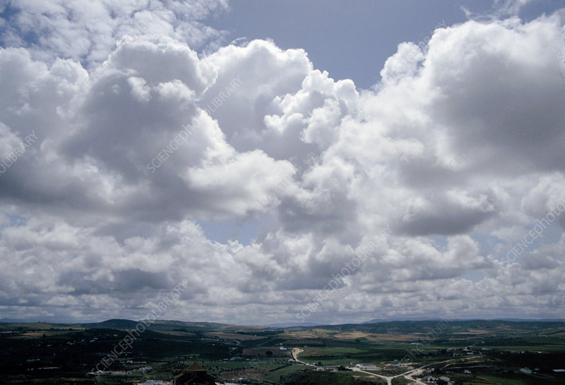View of stratocumulus clouds