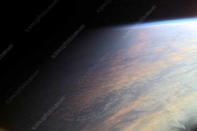 Sunlit clouds from space