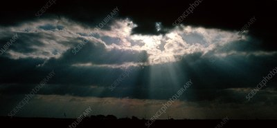 Storm clouds and sunbeams