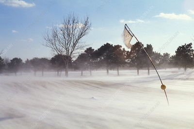 Wind blowing snow