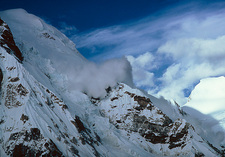 Avalanche on Pumori Khumbu region, Nepal