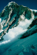 Avalanche on west shoulder of Mount Everest
