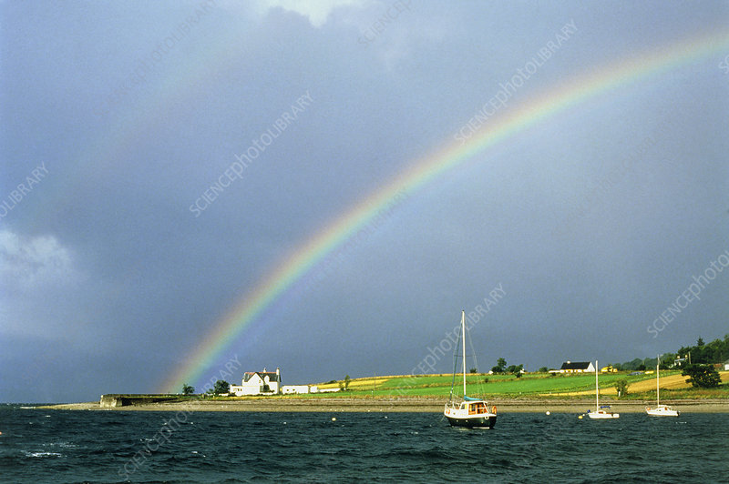 Rainbow over the shore of Loch Linnhe