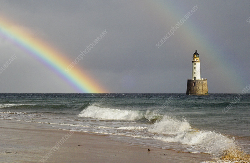 Rainbow and a lighthouse
