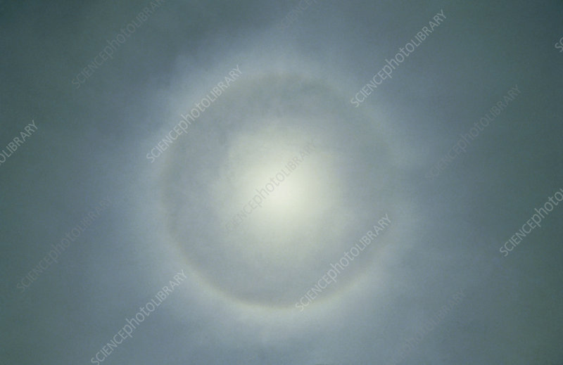 Twenty-two degree halo around the Sun