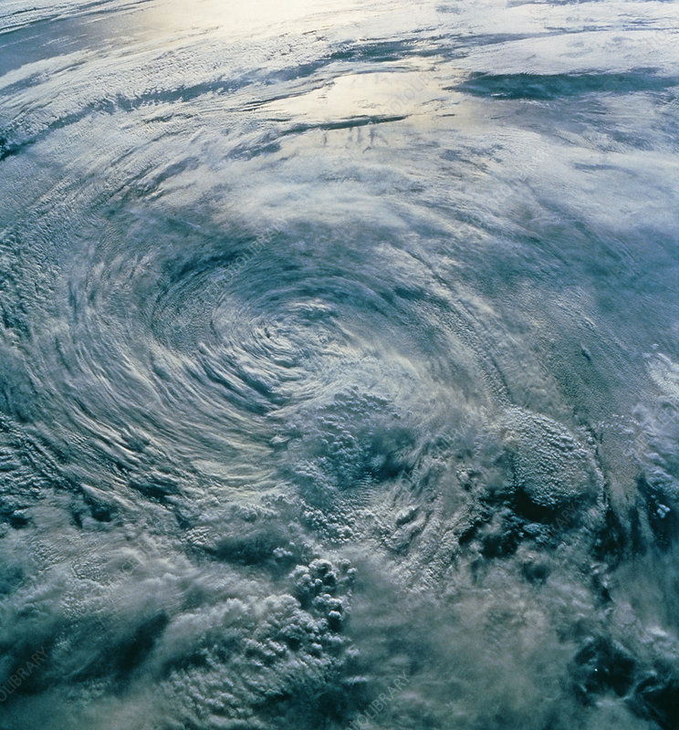 Tropical Storm Iniki seen from space, STS-47