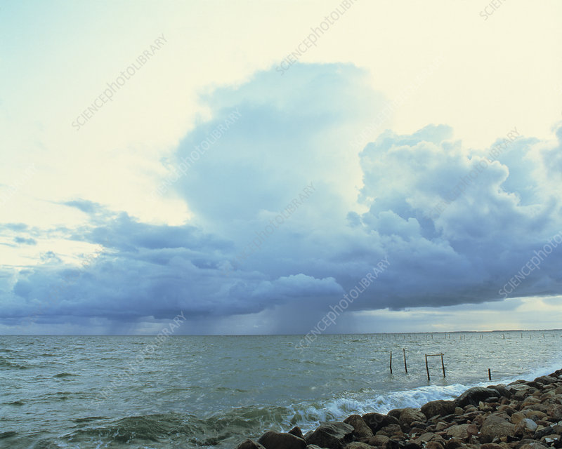 Storm approaching coast, Lolland, Denmark