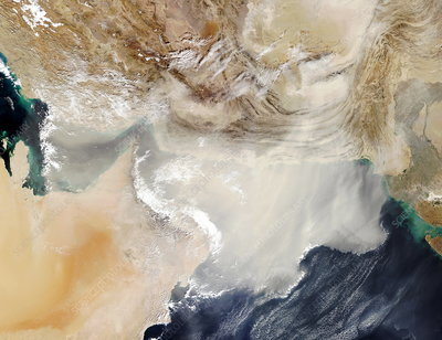 Dust storm over the Arabian Sea