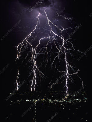 Lightning over Tamworth, New South Wales