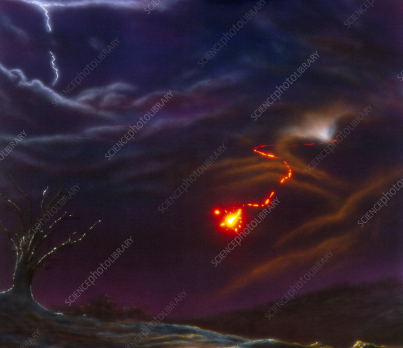 Artist's impression of ball lightning