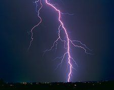 Lightning strike near Tucson, Arizona