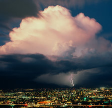 Lightning over Tucson, Arizona