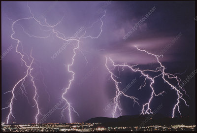 Cloud to ground lightning, Tucson, USA